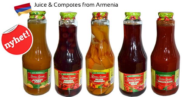 Juice och compotes från Armenien