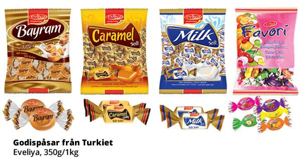Turkisk Godis, Eveliya, 350g/1kg