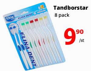 Tandborste - 8-pack