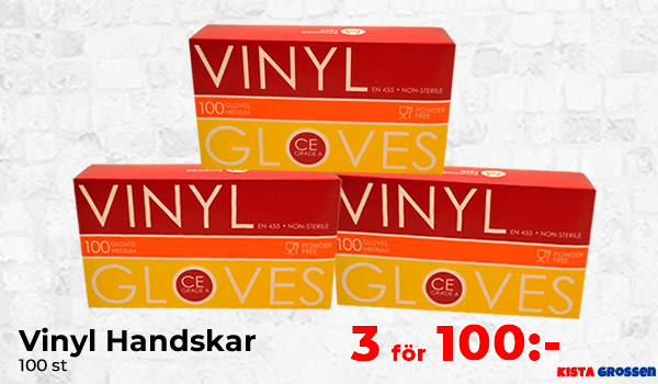 Vinyl Handskar