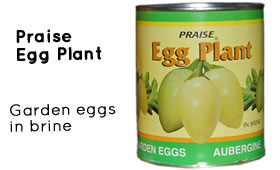 Praise egg plant in brine