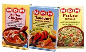 MDH Tandoori Masala, Butter Chicken, Pulao Masala