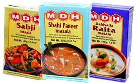 MDH Sabji Masala, Shahi Paneer Masala, Raita Masala