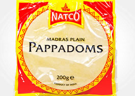 Natco Madrass Plain Pappadoms