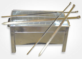 Platta grillspett metall