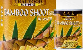 Bamboo Shoot skivad i vatten