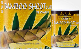Bamboo Shoot strimlad i vatten
