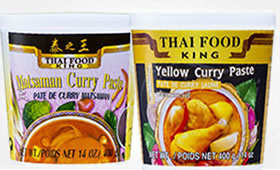 Matsaman & Yellow Curry paste