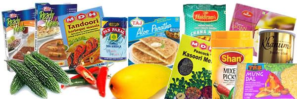 Indiska produkter, indisk mat