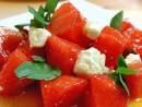 Vattenmelon och fetaost sallad