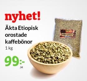 Etiopisk orostade kaffebönor